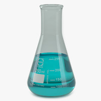 3d model erlenmeyer 250 ml lab