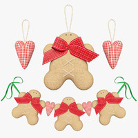 3d model of tilda gingerbread man