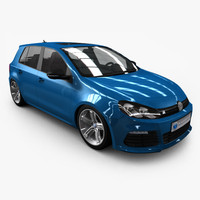 VW Golf R 2011 - 4 Door - Low Poly