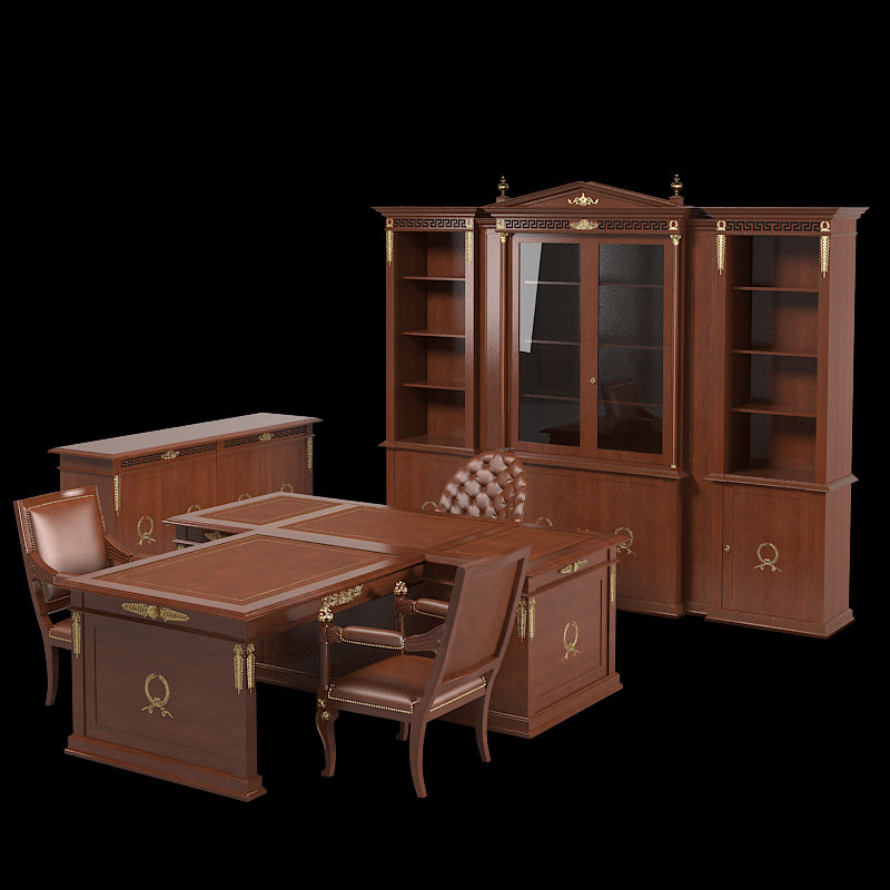 b Classic President Class Office Luxury Furniture claaical empire table chair sideboard cabinet showcase storage.jpg