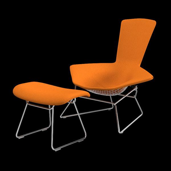 Bertoia lounge chair 3d model knoll bertoia high back lounge chair