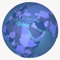 planet earth countries 3d c4d