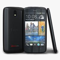 htc desire 500 black 3d model