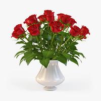 3d max bouquet roses