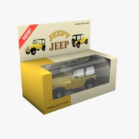 obj yellow toy car