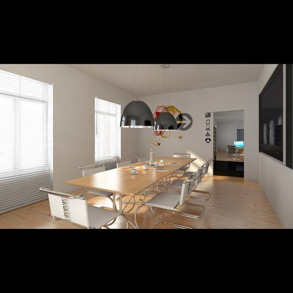 Small Office Interior Design: Small Office Interior 3d Model