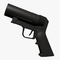 3d grenade pistol