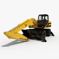 3d model of hydraulic excavator