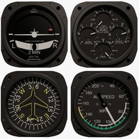 3ds max 4 aircraft instruments set