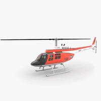 3d model 206 jetranger helicopters