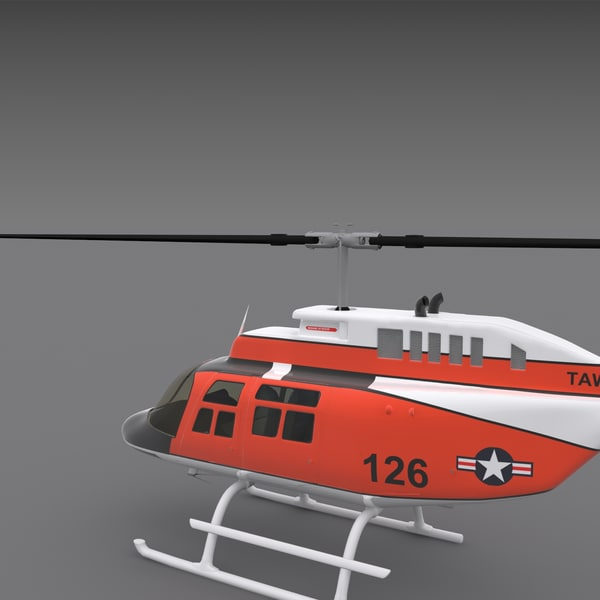 3d model 206 jetranger helicopters - 206 Jetranger Helicopter... by AcharyaD