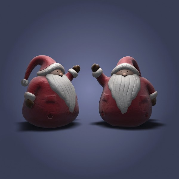 santa claus figure 3d 3ds - Santa Claus Figure... by shank3d