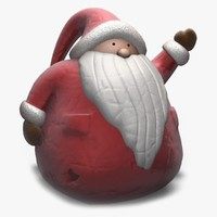 santa claus figure 3d 3ds