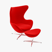 3d design arne jacobsen egg