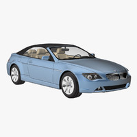 bmw 6 convertible 2006 3ds