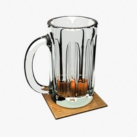 Beer Mug with Coaster