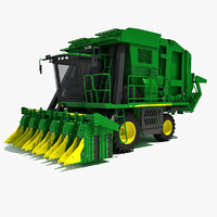 john deere cotton picker 3d model