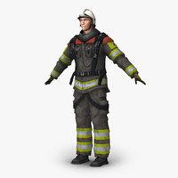 firefighter simulation real 3d obj