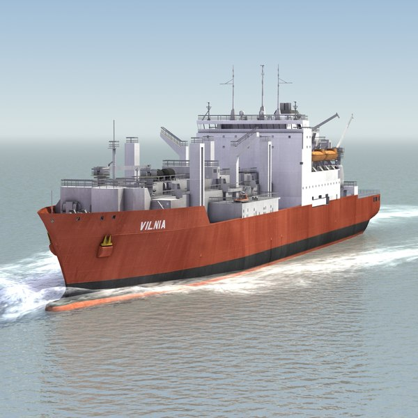 dry cargo container ship 3ds
