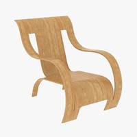 3d plywood armchair