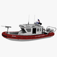 3d model coast guard watercraft boat