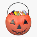 halloween candy bucket 3D models