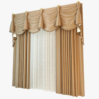 3d curtain windows dressing