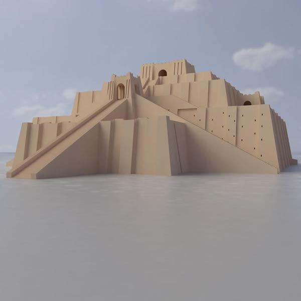 sumerian pyramid ancient 3d lwo - Ziggurat of Ur... by BARAKA Ziggurat Mesopotamia Model