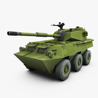 ptl02b wheeled assault gun 3d max