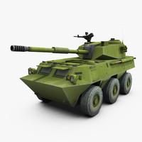 ptl02b wheeled assault gun 3d max