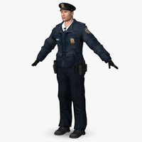 police officer 3d 3ds