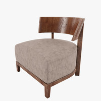 3dsmax armchair thomas design flexform