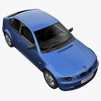 3d realistic bmw e46 model