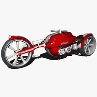 motorcycle modeled 3d model