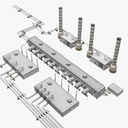 Geothermal Power Plant 3D models