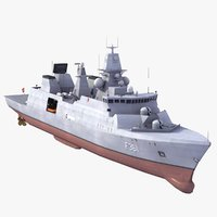 3d model f361 iver huitfeldt class frigate