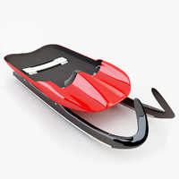 olympic luge sled 3d model