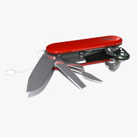 3d model swiss army knife tool