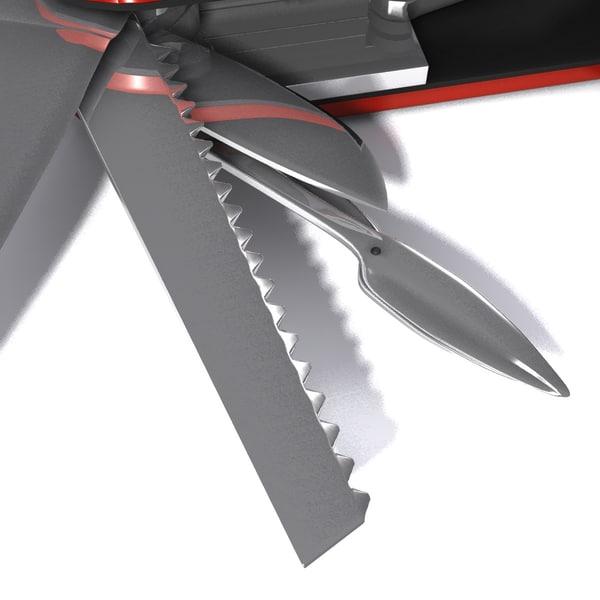 3d model swiss army knife tool 3d tool free
