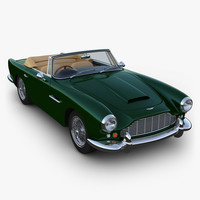 aston martin db4 convertible 3d 3ds