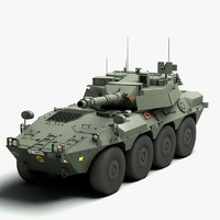 3d model centauro tank destroyer vehicle