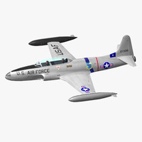 t-33 jet trainer 3d model