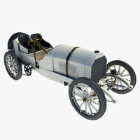 3d model mercedes 1908