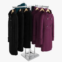 3d female coats rack