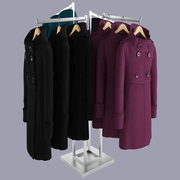 3d female coats rack - Female Realistic Coat Rack... by 3dlittlebee