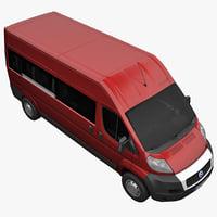 3d model fiat ducato minibus