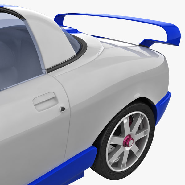 sports car tomaso bigua 3d max - Sports Car De Tomaso Bigua Tunned 2 rigged... by 3d_molier