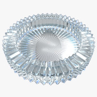 3d model of glass ashtray