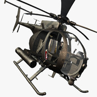 3d helicopter little bird mh-6