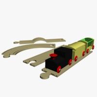 toys trains 3d model